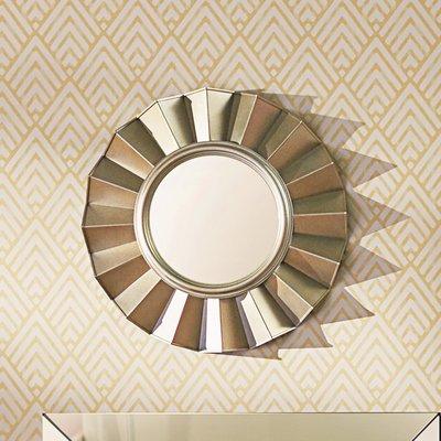 Inspiration about Willa Arlo Interiors Vertical Round Wall Mirror Throughout Deniece Sunburst Round Wall Mirrors (#15 of 20)