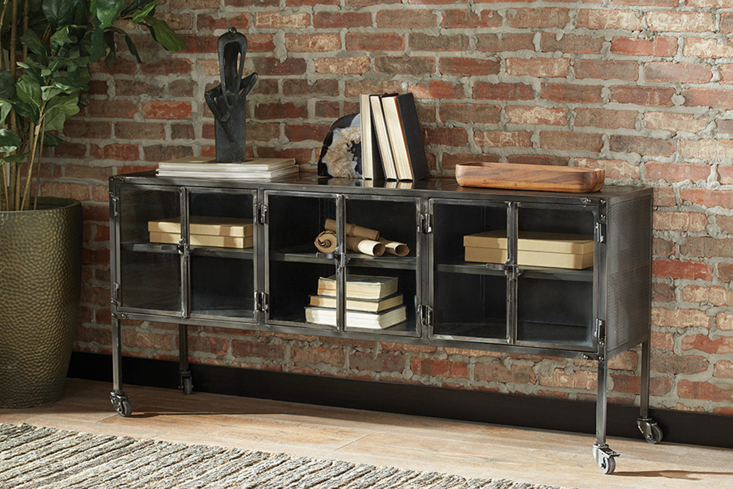 Williston Forge Carwile 6 Door Accent Cabinet | Wayfair (View 19 of 20)