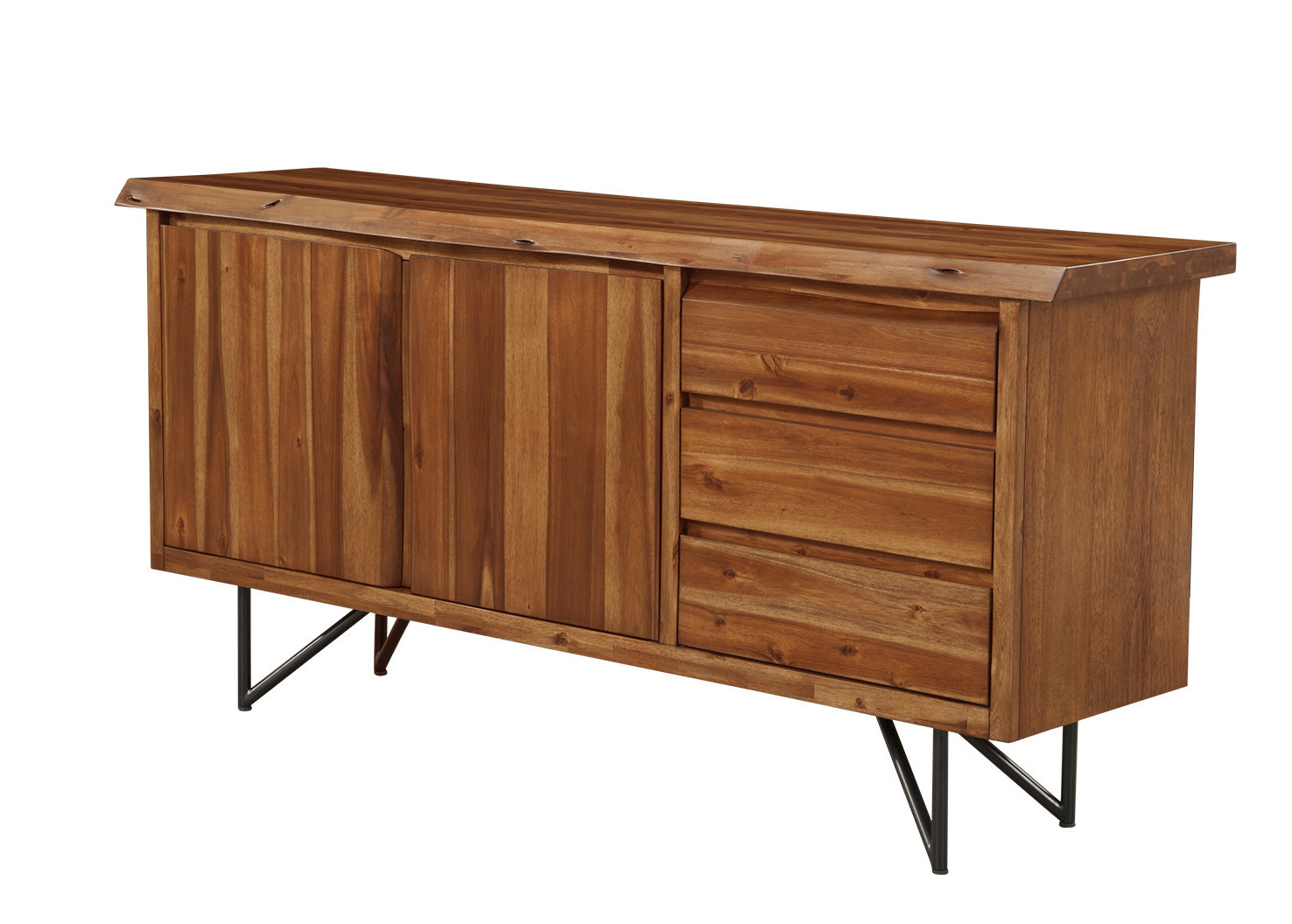 Inspiration about Winschoten Buffet Table Throughout Current Keiko Modern Bookmatch Sideboards (#7 of 20)