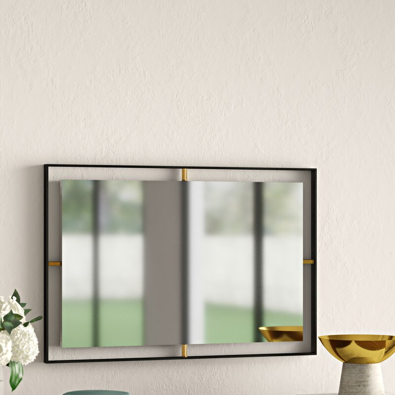 Wolbert Industrial Rectangle Accent Mirror For Derick Accent Mirrors (#20 of 20)