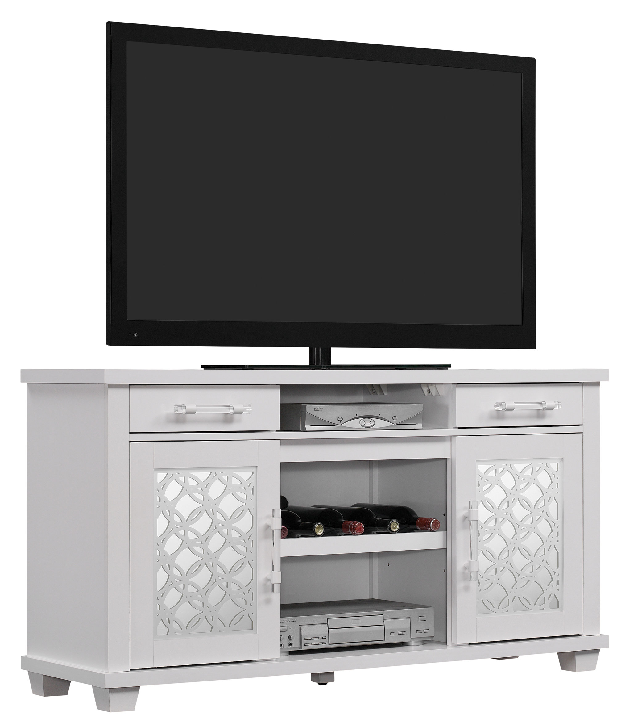 "Inspiration about Wood Credenza Tv Stand | Wayfair In Best And Newest Ericka Tv Stands For Tvs Up To 42"" (#15 of 20)"