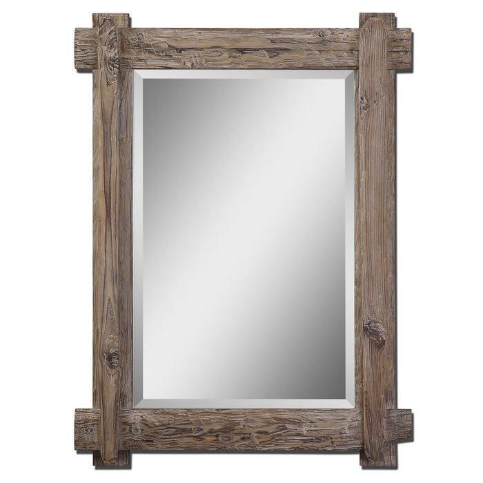 Inspiration about Wooden Traditional Beveled Accent Mirror For Tifton Traditional Beveled Accent Mirrors (#9 of 20)