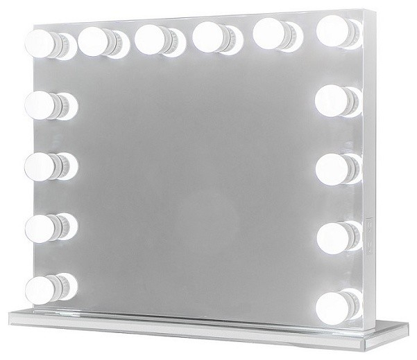 Xl Frameless Hollywood Lighted Vanity Mirror, Dimmer Intended For Vanity Mirrors (View 8 of 20)