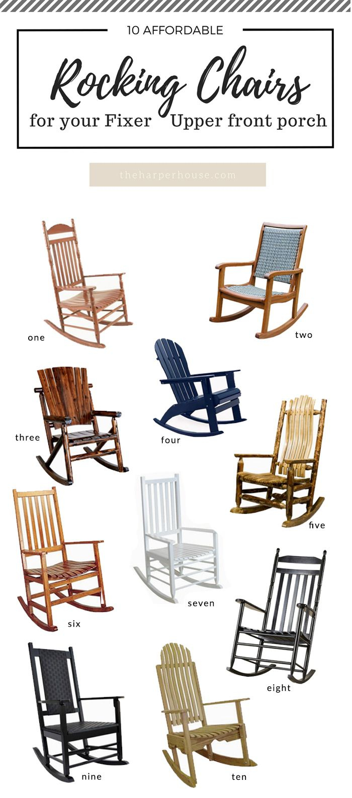 Inspiration about 10 Awesome Porch Rocking Chairs | Best Of The Harper House Regarding Dark Walnut Brown Wooden Rocking Chairs (#6 of 20)