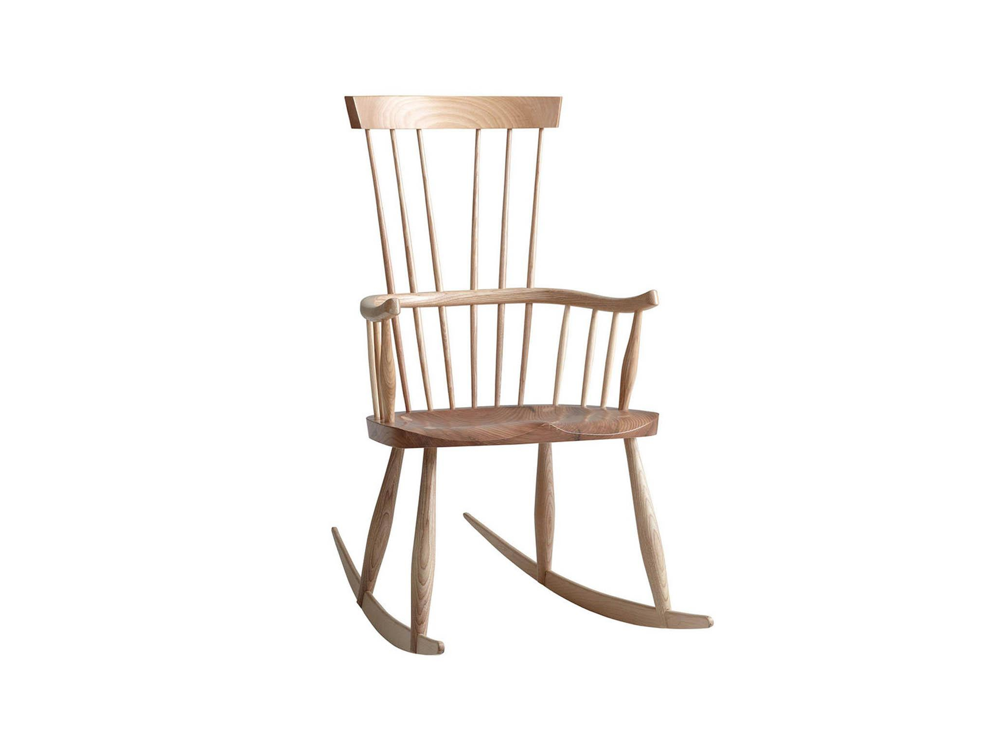 Inspiration about 10 Best Rocking Chairs | The Independent Regarding Dark Oak Wooden Padded Faux Leather Rocking Chairs (#14 of 20)