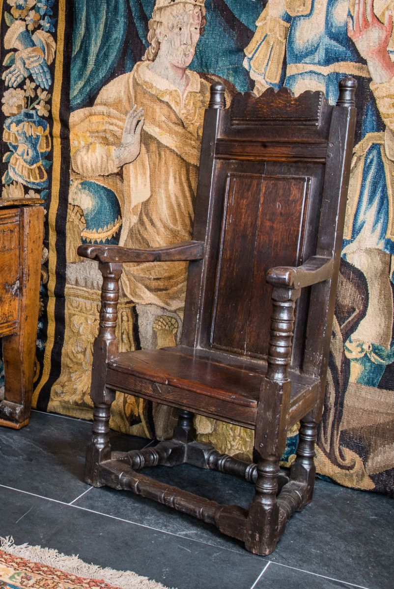 Inspiration about 16Th Century Joined Oak Scottish Armchair, Marhamchurch Inside Oak Carved Rocking Chairs Chairs (#15 of 20)