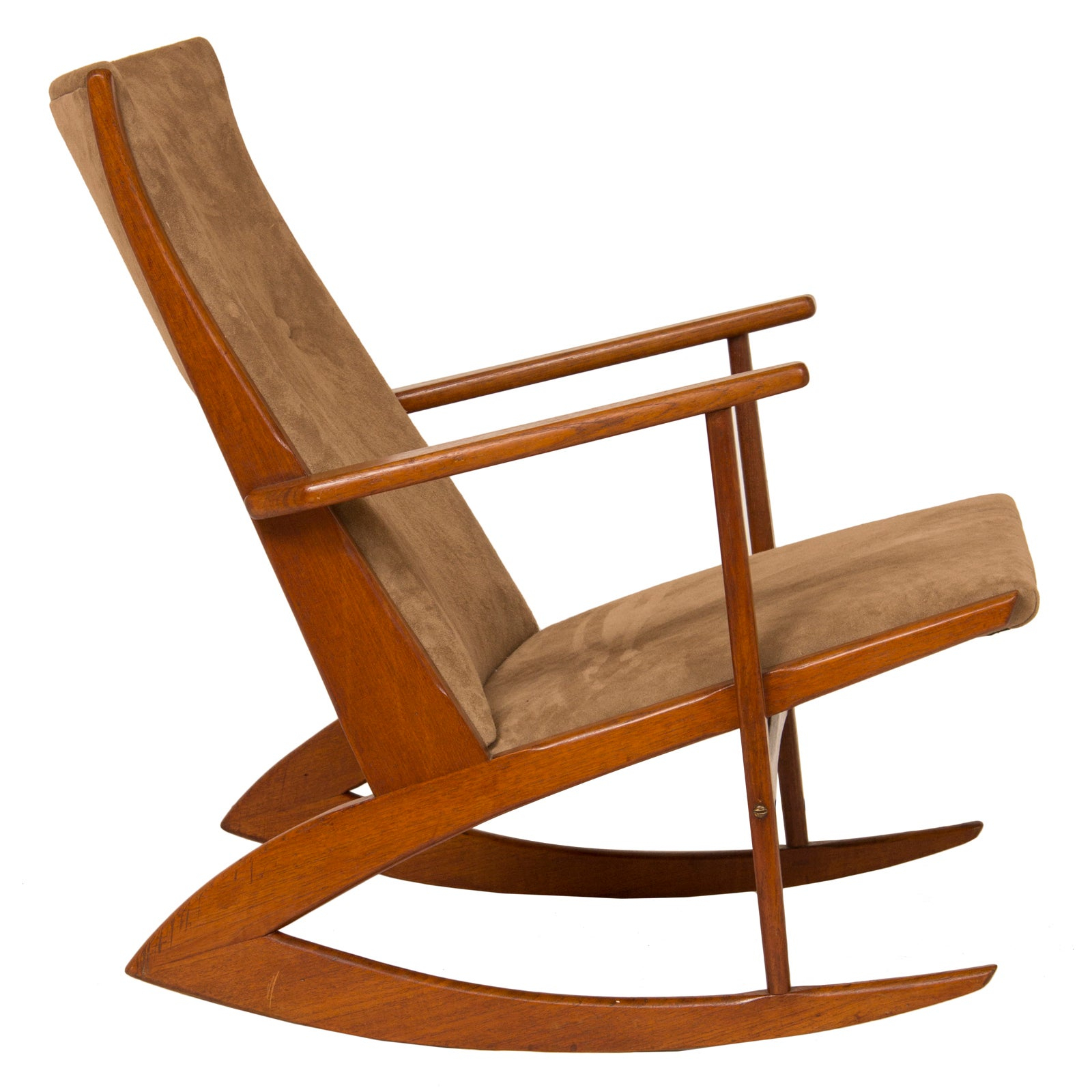 Inspiration about 1950S Teak And Suede Soren Georg Jensen Rocking Chair Within Dover Bentwood Rocking Chairs (#6 of 20)