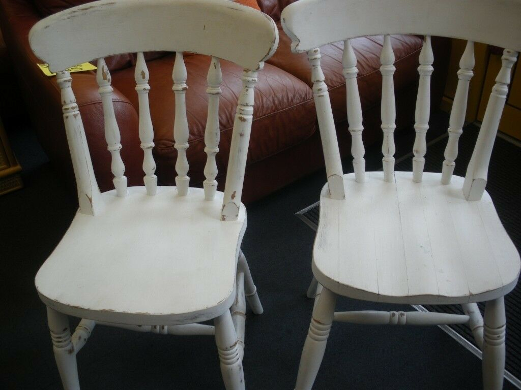 2 Wood Painted Traditional Chairs At Haven Housing Trust's Charity Shop | In Hyson Green, Nottinghamshire | Gumtree With Radford Traditional Rocking Chairs (View 16 of 20)