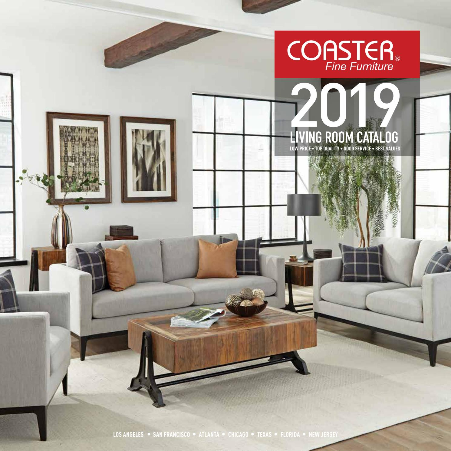 2019 Coaster Living Room Catalogcoaster Company Of With Carbon Loft Ariel Rocking Chairs In Espresso Pu And Walnut (View 19 of 20)