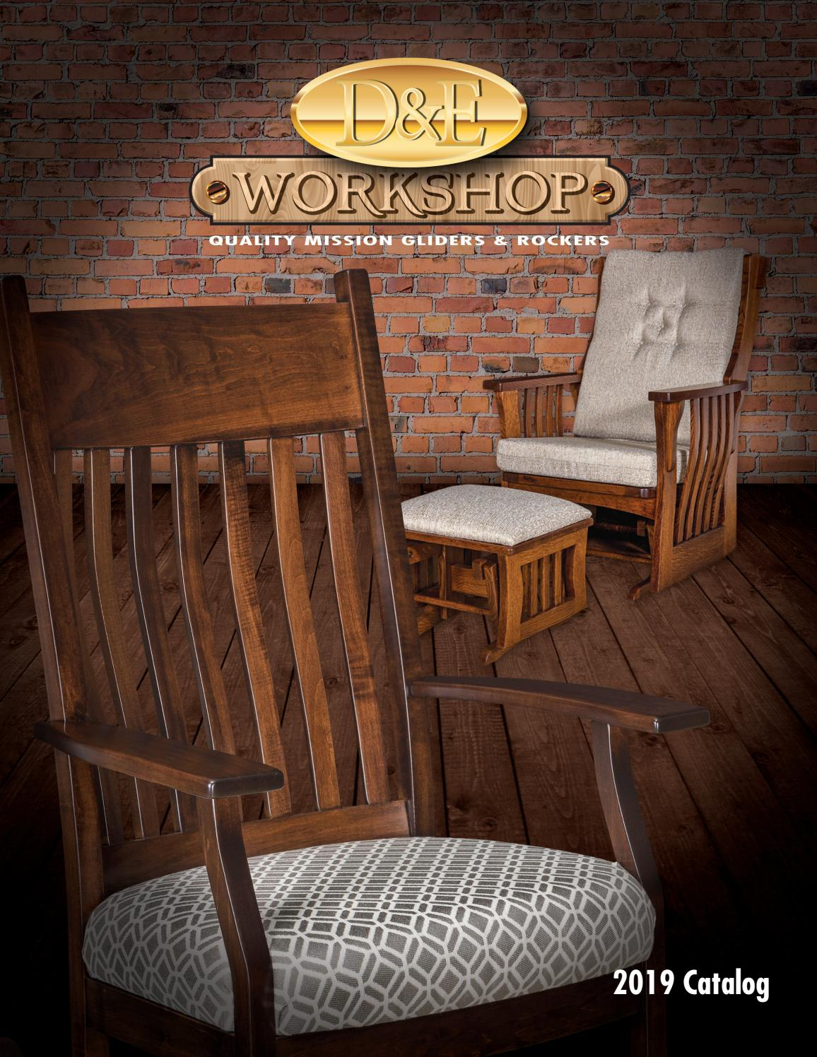 2019 D&e Workshop – Rockers And Gliders Catalogpinpoint Regarding Mission Design Wood Rocking Chairs With Brown Leather Seat (#1 of 20)
