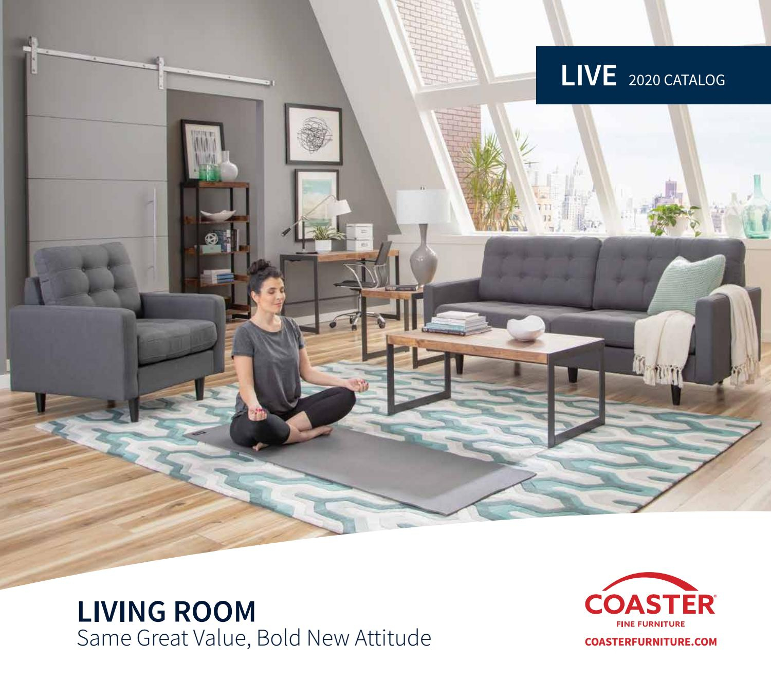 Inspiration about 2020 Coaster Catalog Livecoaster Company Of America – Issuu Pertaining To Carbon Loft Ariel Rocking Chairs In Espresso Pu And Walnut (#15 of 20)