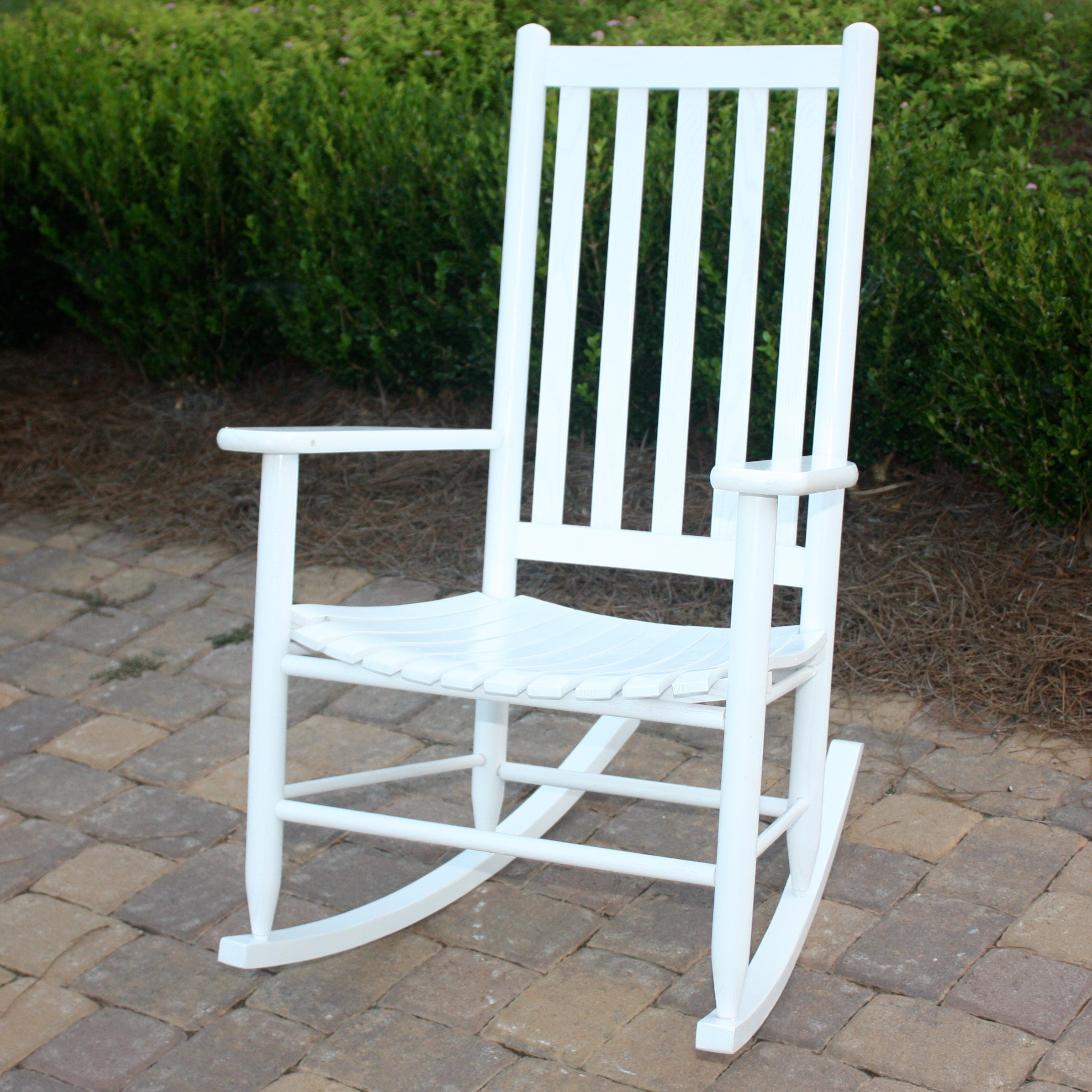 40 Outdoor Rocking Chair Porch, White Wooden Porch Rocking Intended For Indoor / Outdoor Porch Slat Rocking Chairs (#2 of 20)