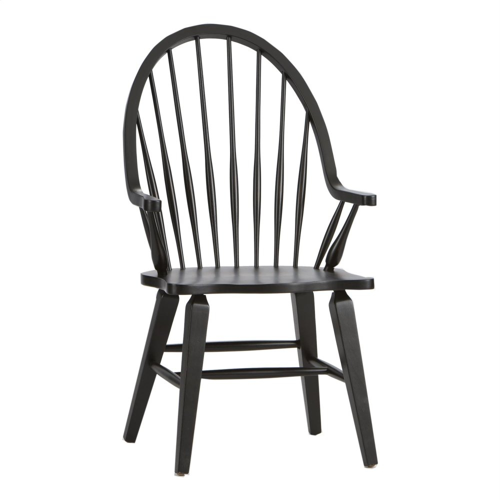 482C1000Aliberty Furniture Industries Windsor Back Arm Chair Within Black Back Windsor Rocking Chairs (#2 of 20)