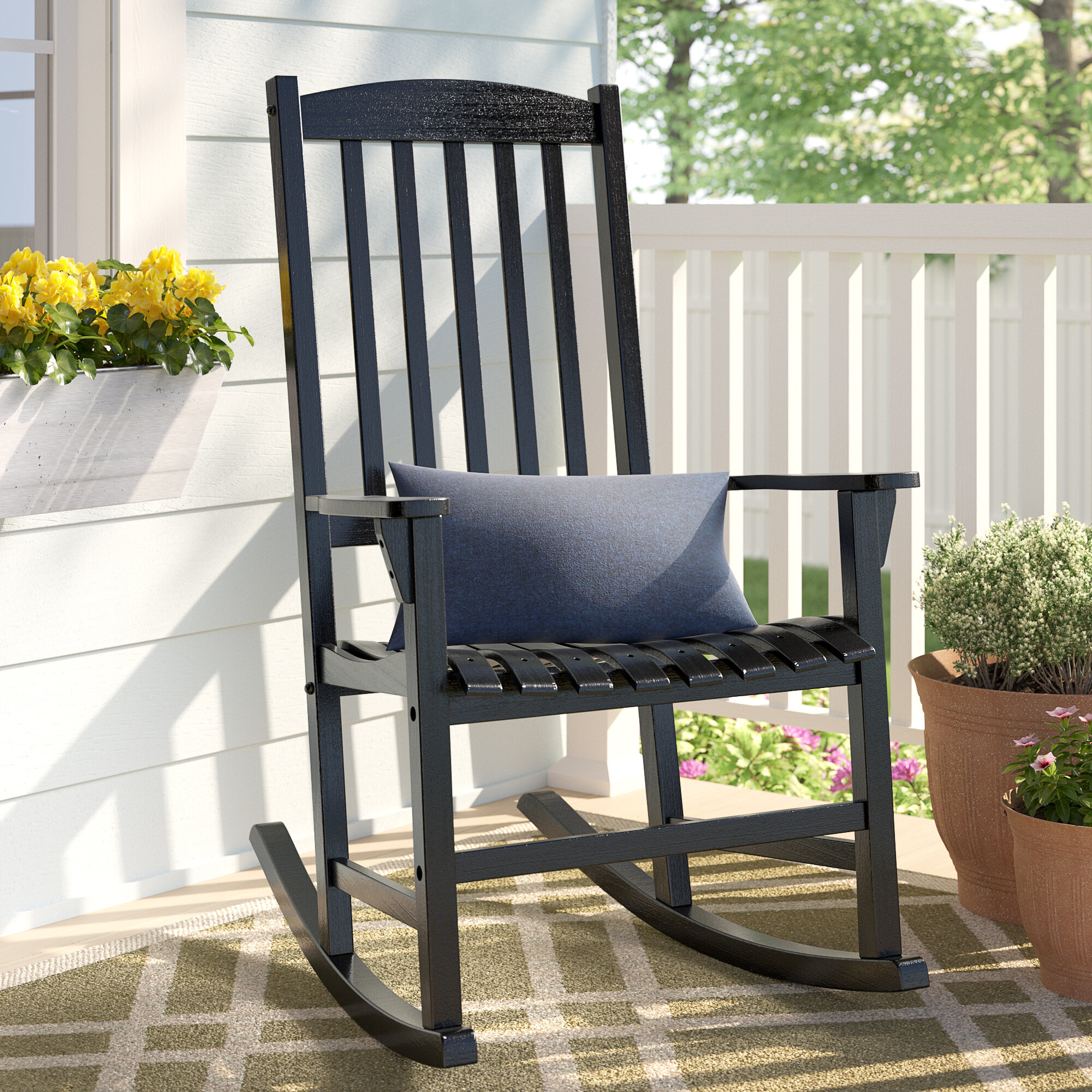 Abasi Porch Rocker Chair With Indoor / Outdoor Porch Slat Rocking Chairs (#3 of 20)