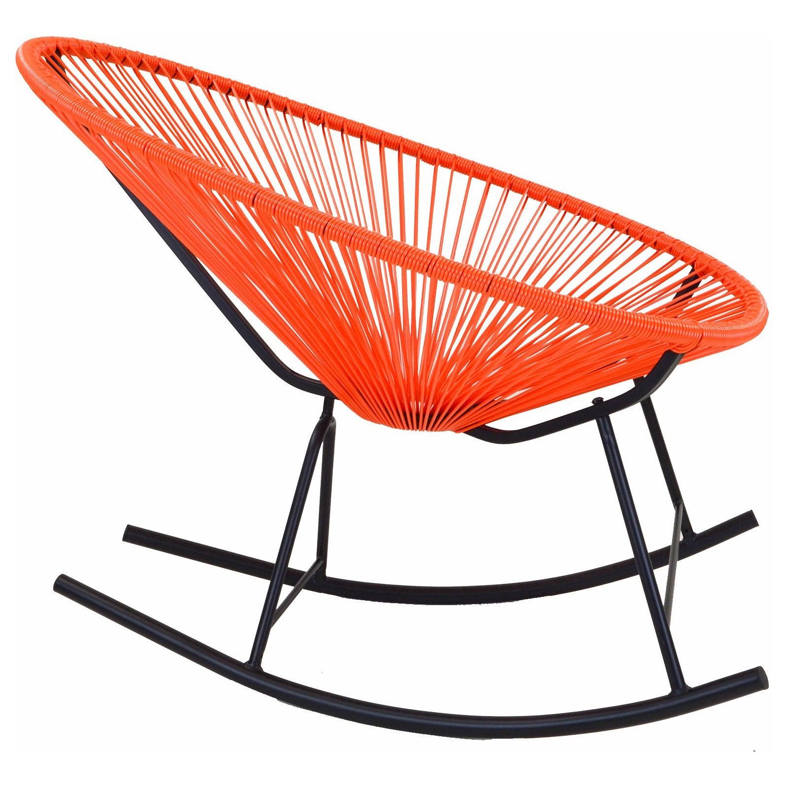 Acapulco Indoor/outdoor Rocking Chair In Orange Throughout Orange Rocking Chairs Lounge Chairs (View 2 of 20)