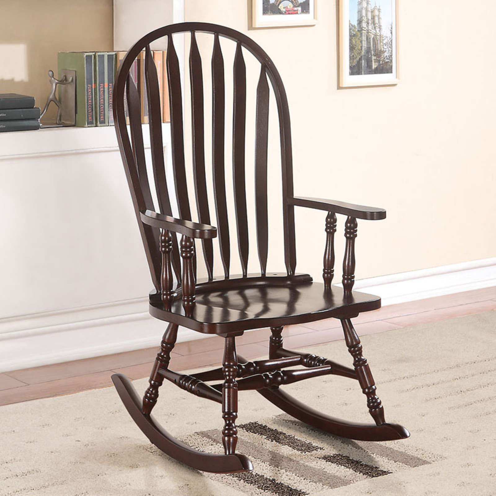 Acme Furniture Kloris Arched Back Rocking Chair | Products Pertaining To Tobacco Brown Kids Rocking Chairs (View 10 of 20)