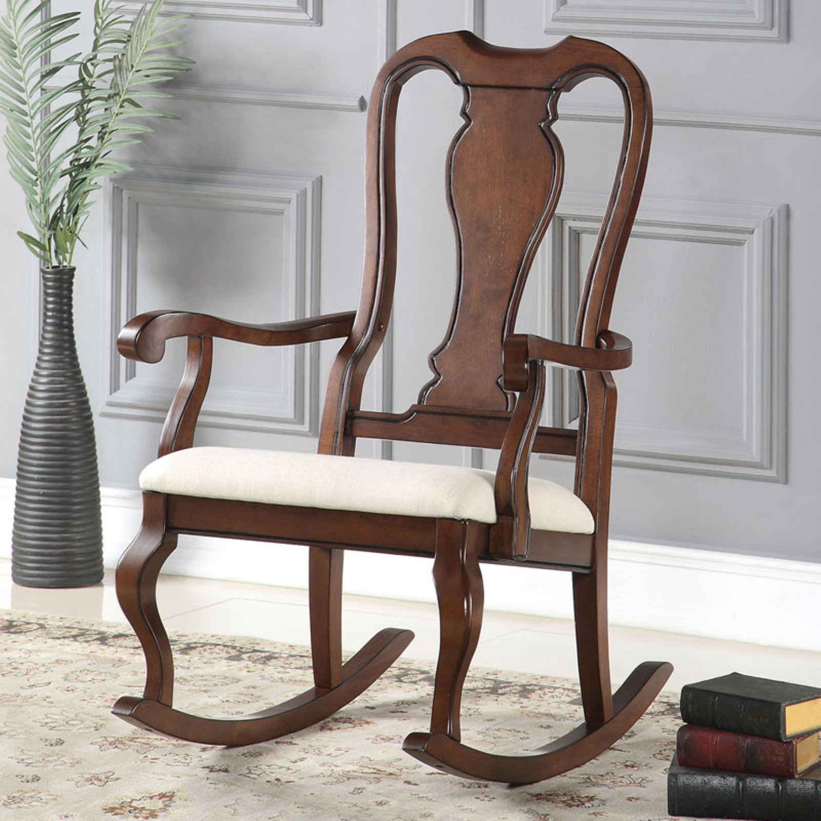 Acme Furniture Sheim Rocking Chair In 2019 | Products | Acme Regarding Colonial Cherry Finish Rocking Chairs (#1 of 20)