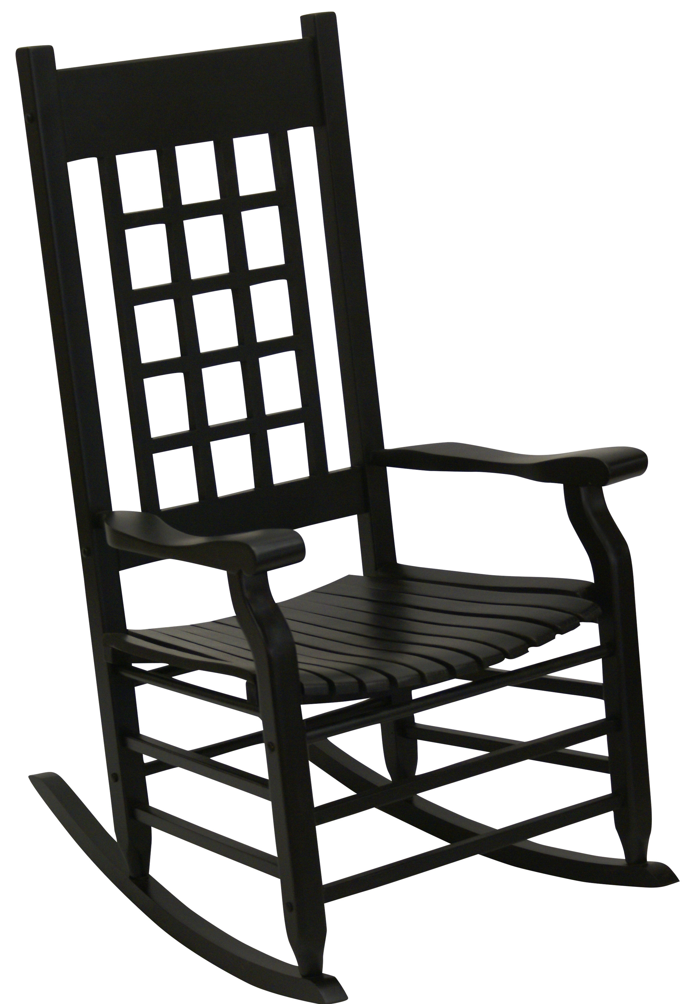 Alcott Hill Hutchcraft Slat Rocking Chair | Wayfair Pertaining To Traditional Style Wooden Rocking Chairs With Contoured Seat, Black (#1 of 20)