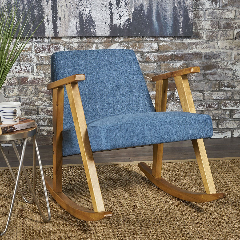 Amazon: Nero Rocking Chair | Mid Century Modern, Danish With Nevies Mid Century Modern Fabric Rocking Chairs (#1 of 20)