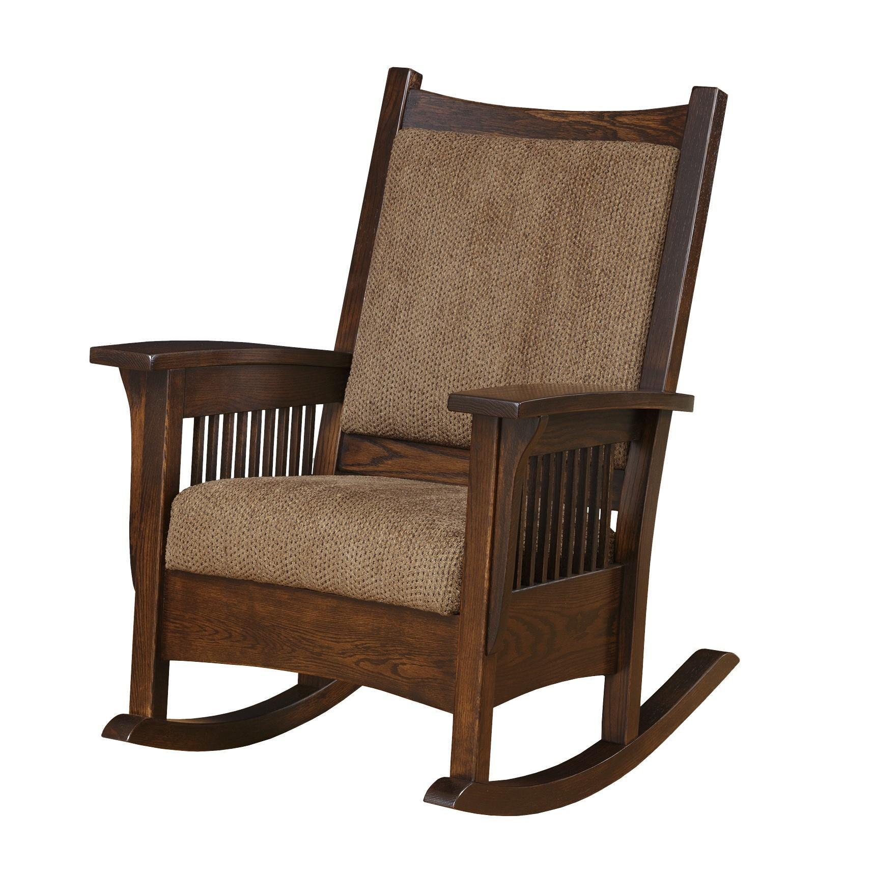 Amish Luxury Mission Rocking Chair For Luxury Mission Style Rocking Chairs (#3 of 20)
