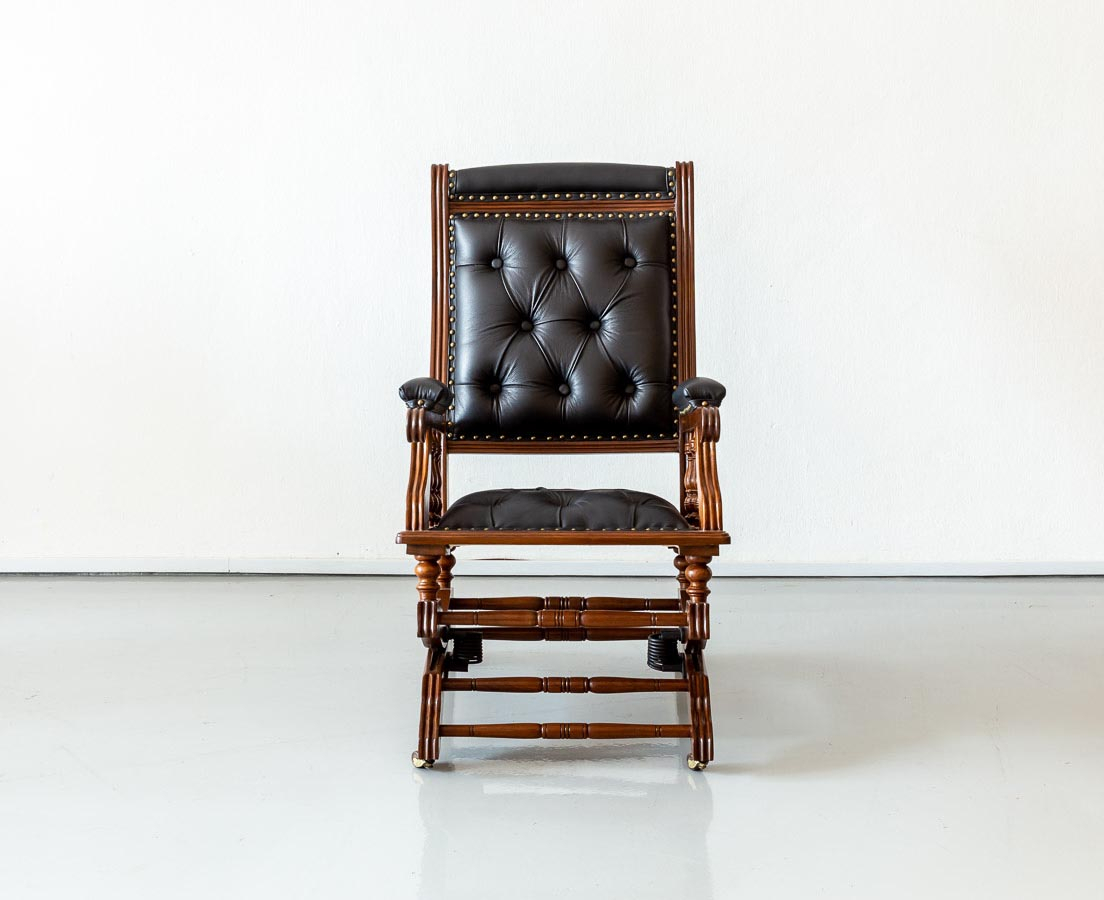 Anglo Indian Teakwood Rocking Chair – The Past Perfect For Colonial Antique Black Rocking Chairs (#2 of 20)