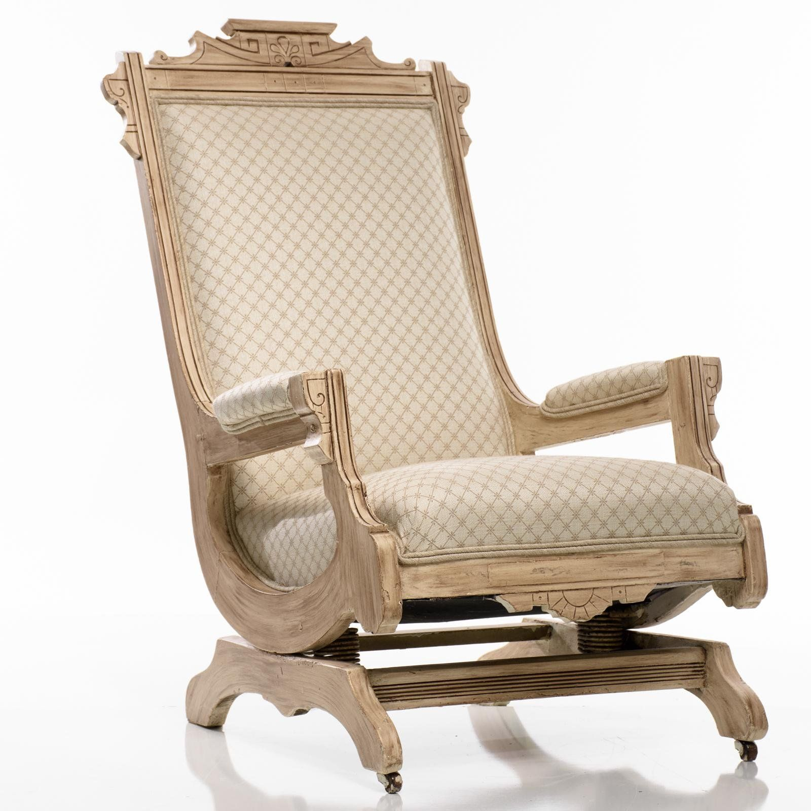 Antique Platform Rocking Chair In 2019 | Vintage Obsession For Beige Fabric And Cherry Wood Rocking Chairs (View 11 of 20)