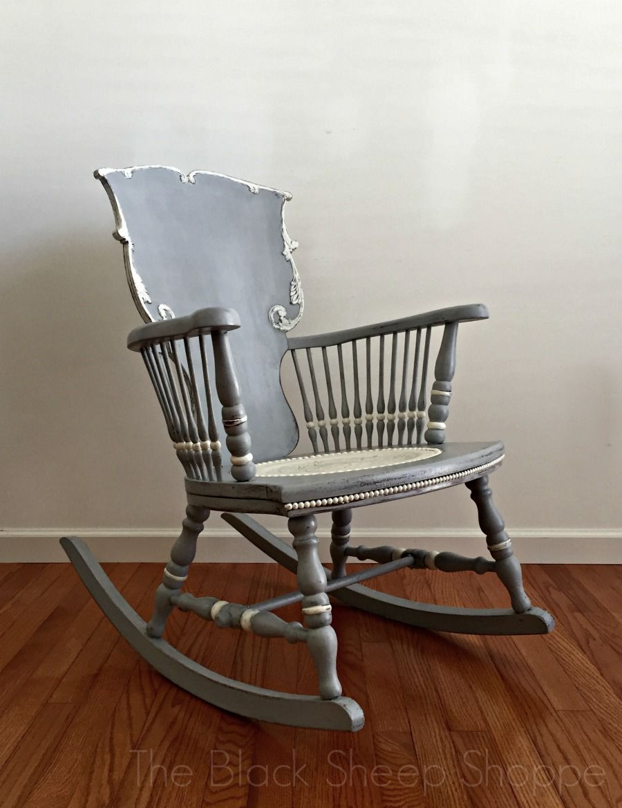 Antique Rocking Chair: Seat Replacement And Painted Finish With Colonial Antique Black Rocking Chairs (#5 of 20)