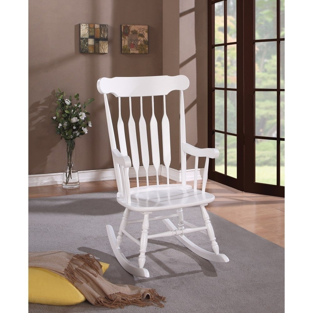 Antique Rocking Chair, White Intended For Radford Traditional Rocking Chairs (View 10 of 20)