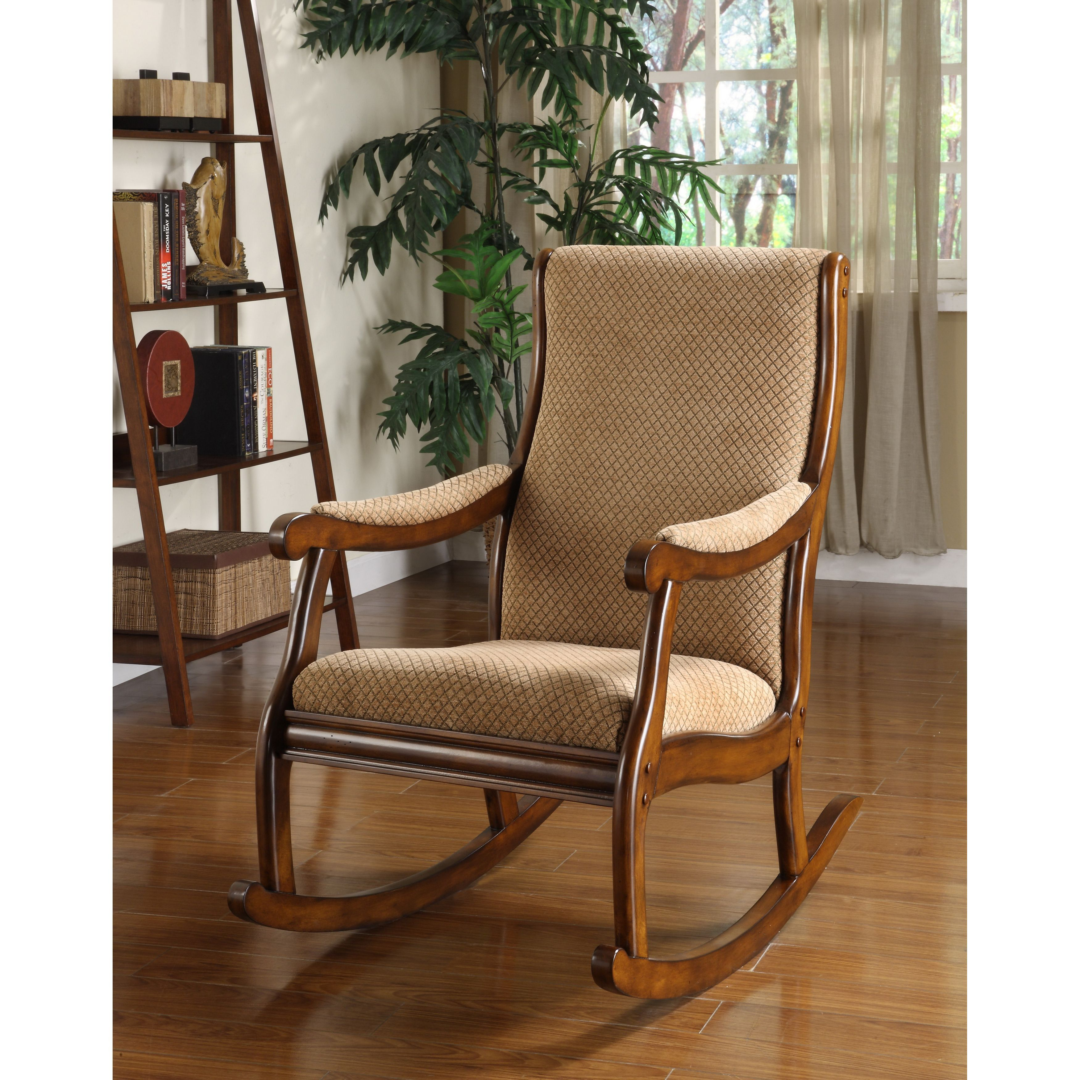 Antique Transitional Warm Oak Rocking Chairfoa | British With Liverpool Classic Style Rocking Chairs In Antique Oak Finish (#4 of 20)