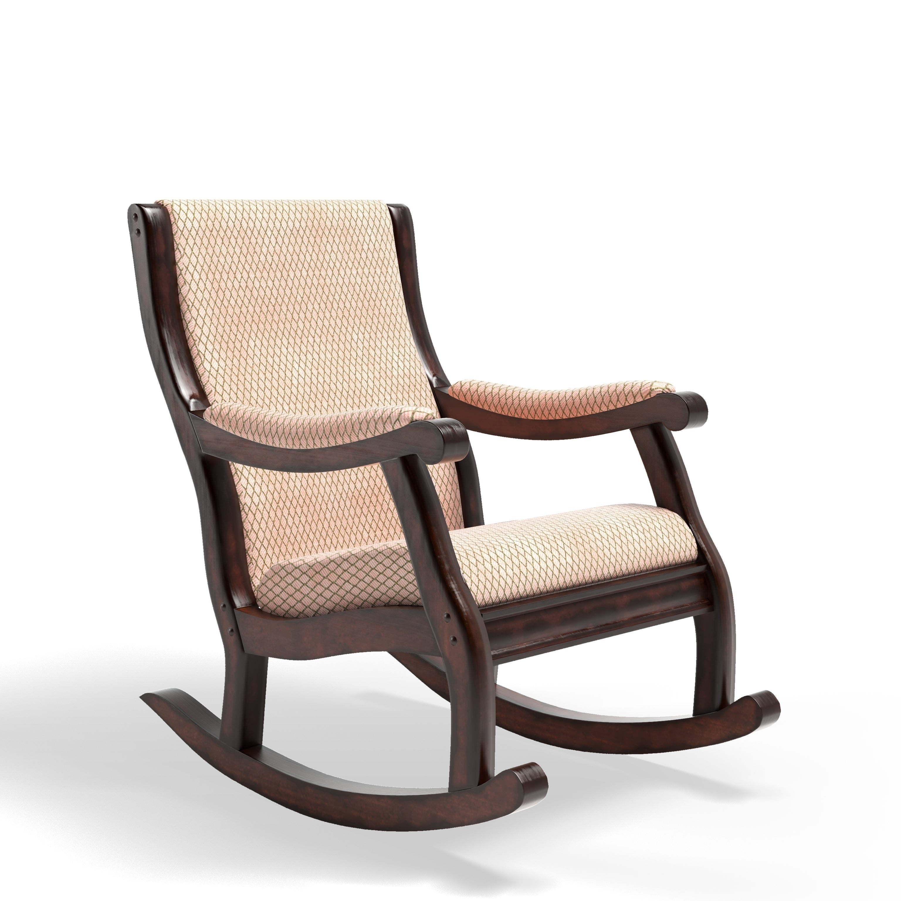 Antique Transitional Warm Oak Rocking Chairfoa Throughout Antique Transitional Warm Oak Rocking Chairs (View 2 of 20)