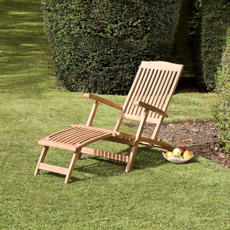 Bali Steamer Teak Garden Recliner With Bali Brown Rocking Chairs (View 15 of 20)