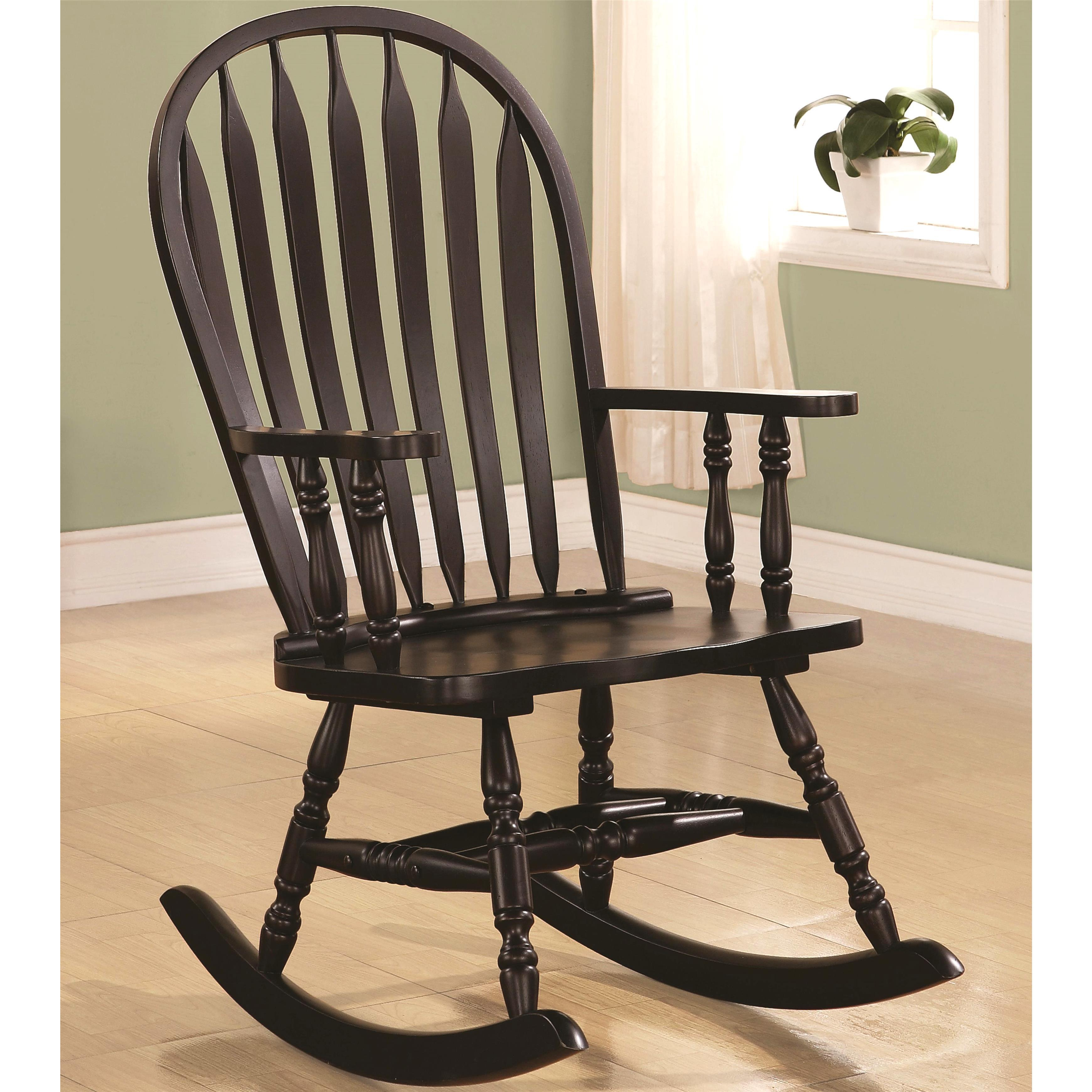Balsam Windsor Arrow Back Rocking Chair With Regard To Ethel Country White Rocking Chairs (#2 of 20)
