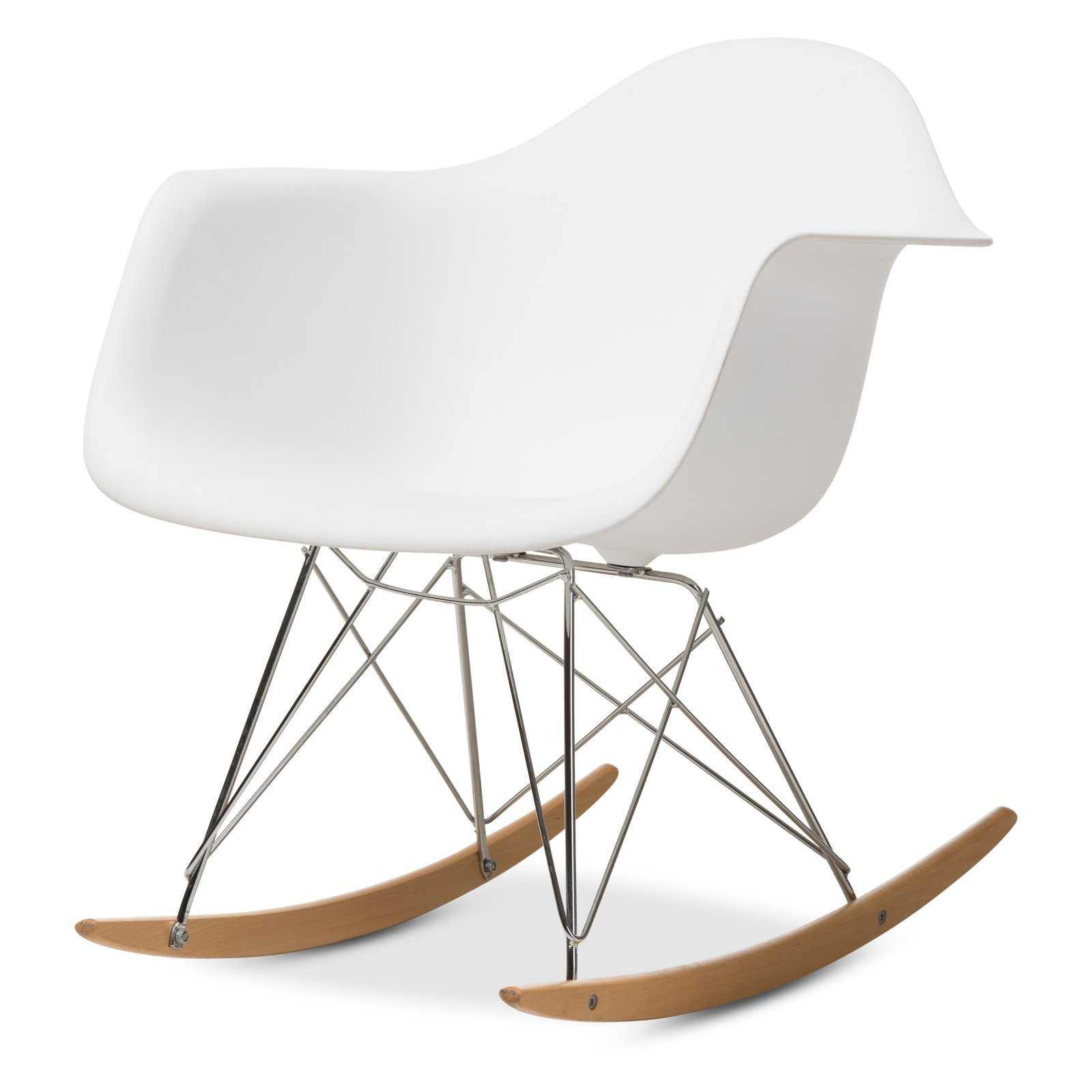 Baxton Studio White Plastic Rocking Chair | Products In 2019 With Regard To Tobacco Brown Kids Rocking Chairs (View 19 of 20)