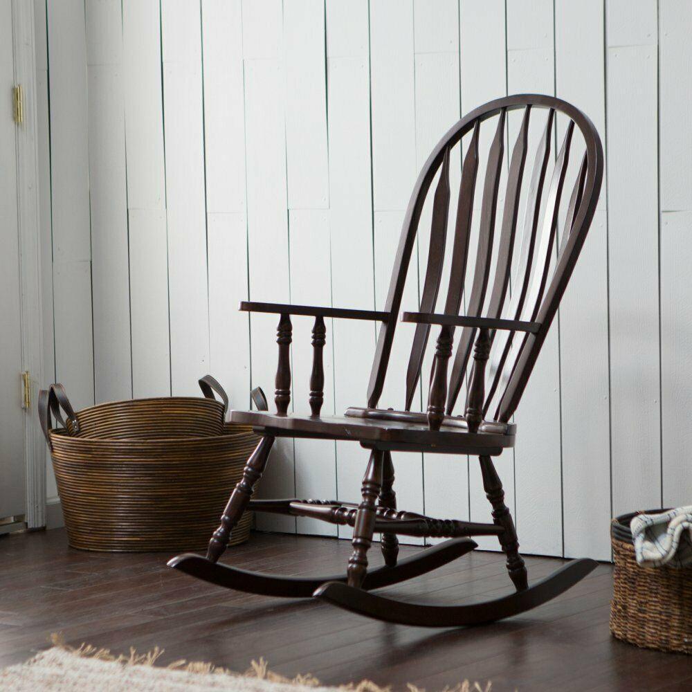 Belham Living Windsor Indoor Wood Rocking Chair – Espresso Inside Espresso Brown Rocking Chairs (View 7 of 20)