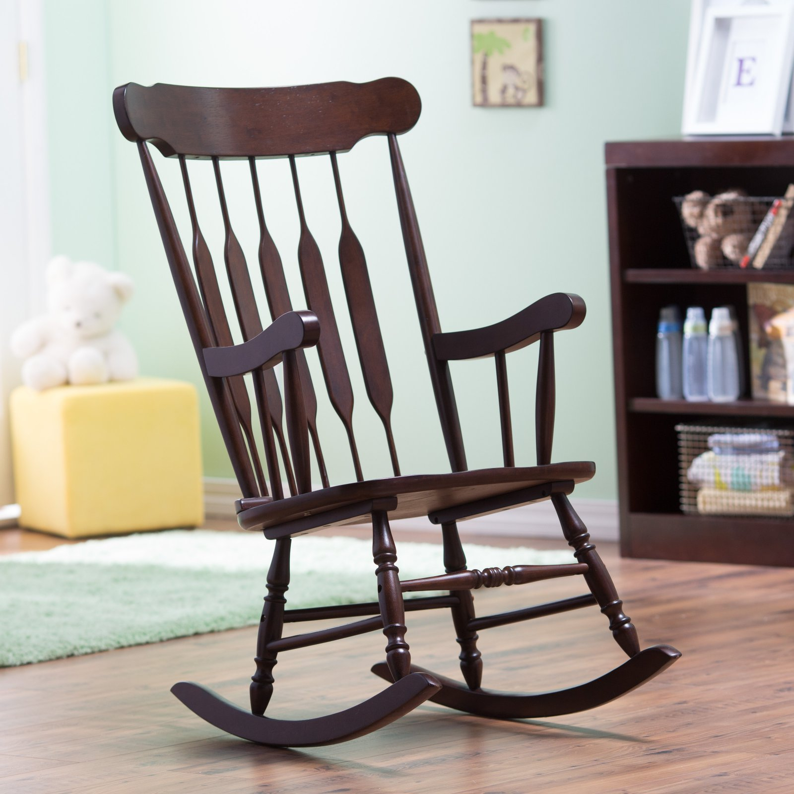 """Belham Living Wood Nursery Rocker €"""" Espresso In 2019 Intended For Madrone Windsor Country Style Rocking Chairs (#3 of 20)"""