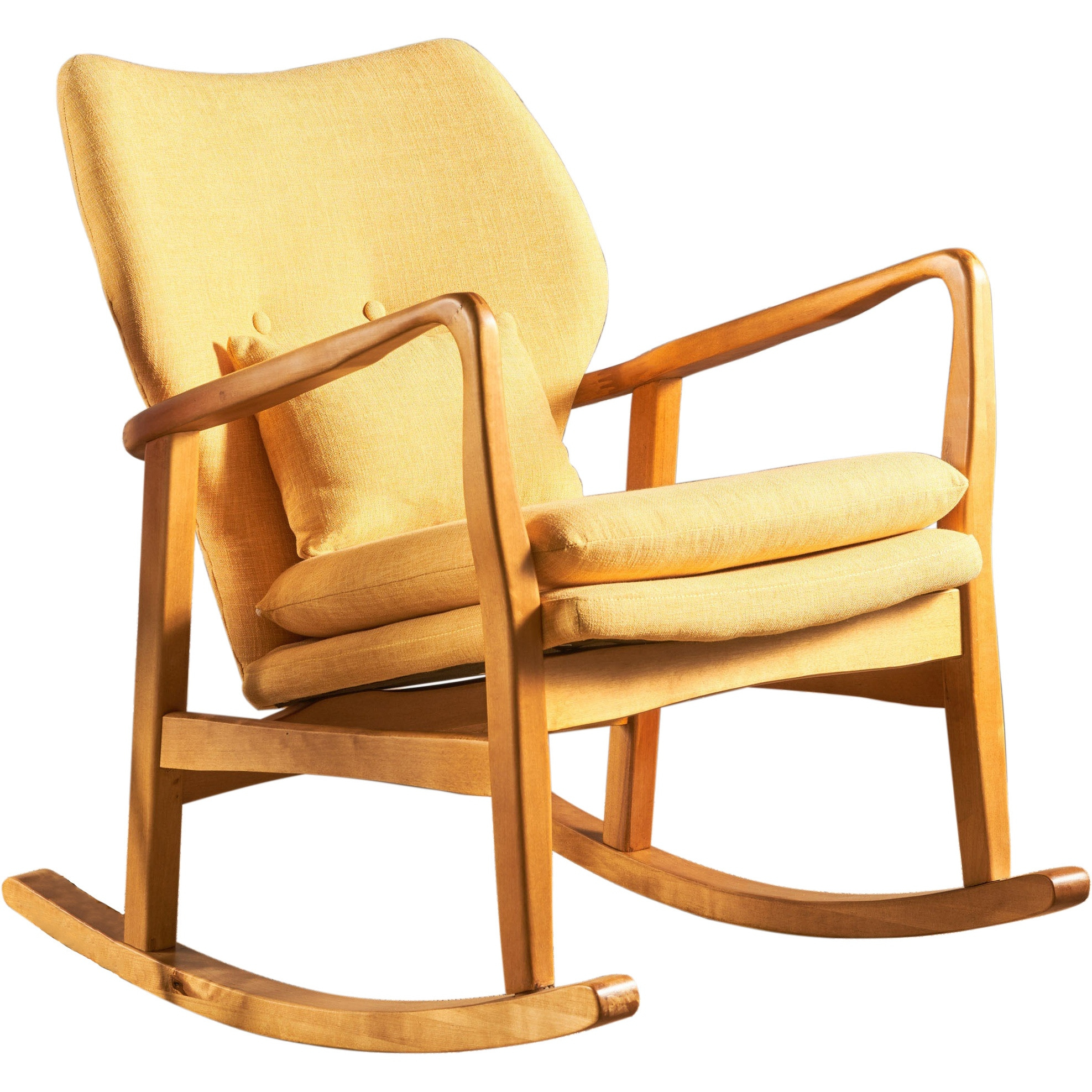 Benny Mid Century Modern Fabric Rocking Chair In Mid Century Fabric Rocking Chairs (#4 of 20)