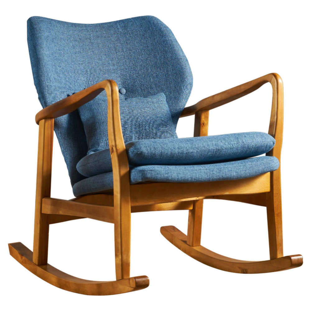 Benny Mid Century Modern Fabric Rocking Chairchristopher Pertaining To Mid Century Fabric Rocking Chairs (#3 of 20)