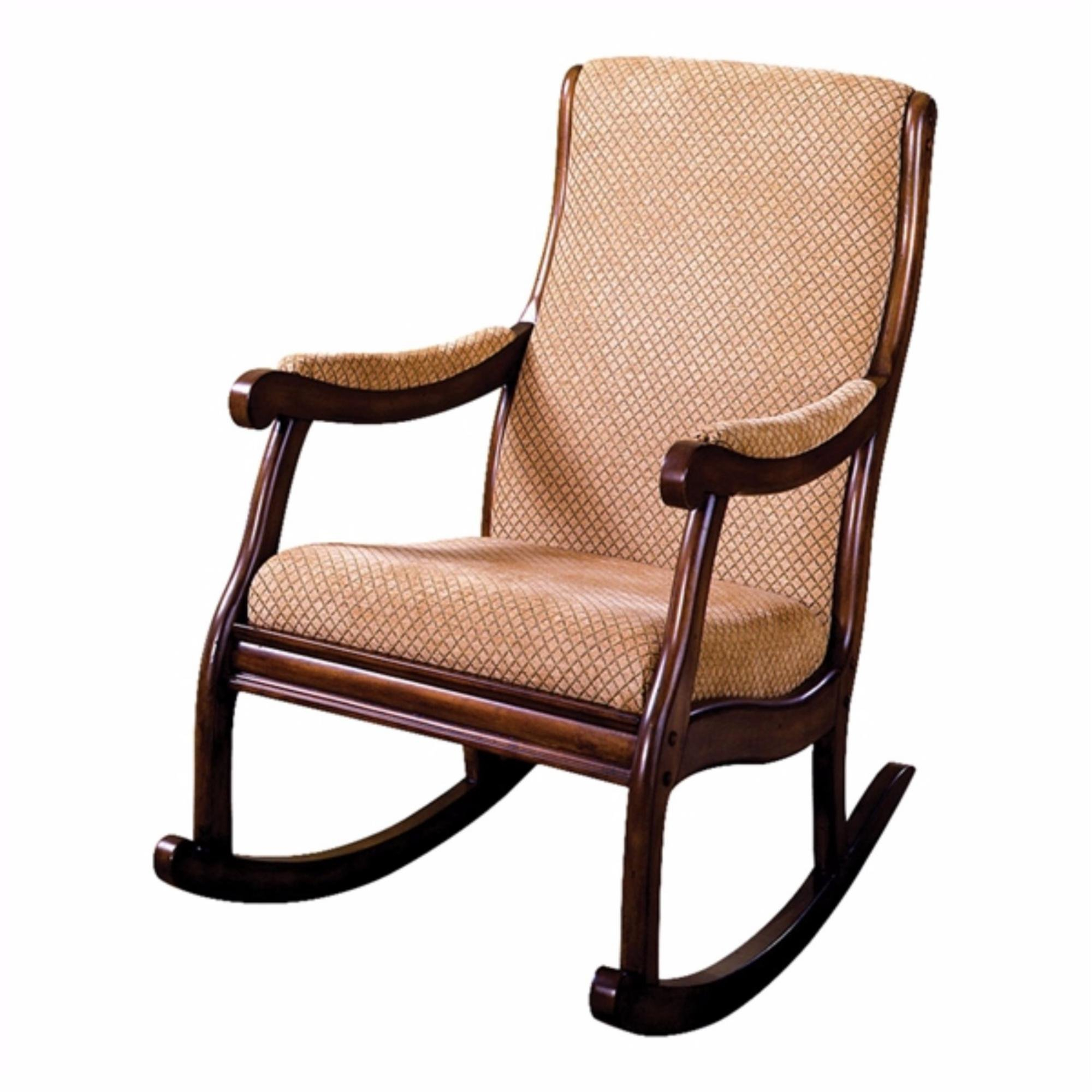 Bernardyn Rocking Chair For Beige Fabric And Cherry Wood Rocking Chairs (View 9 of 20)
