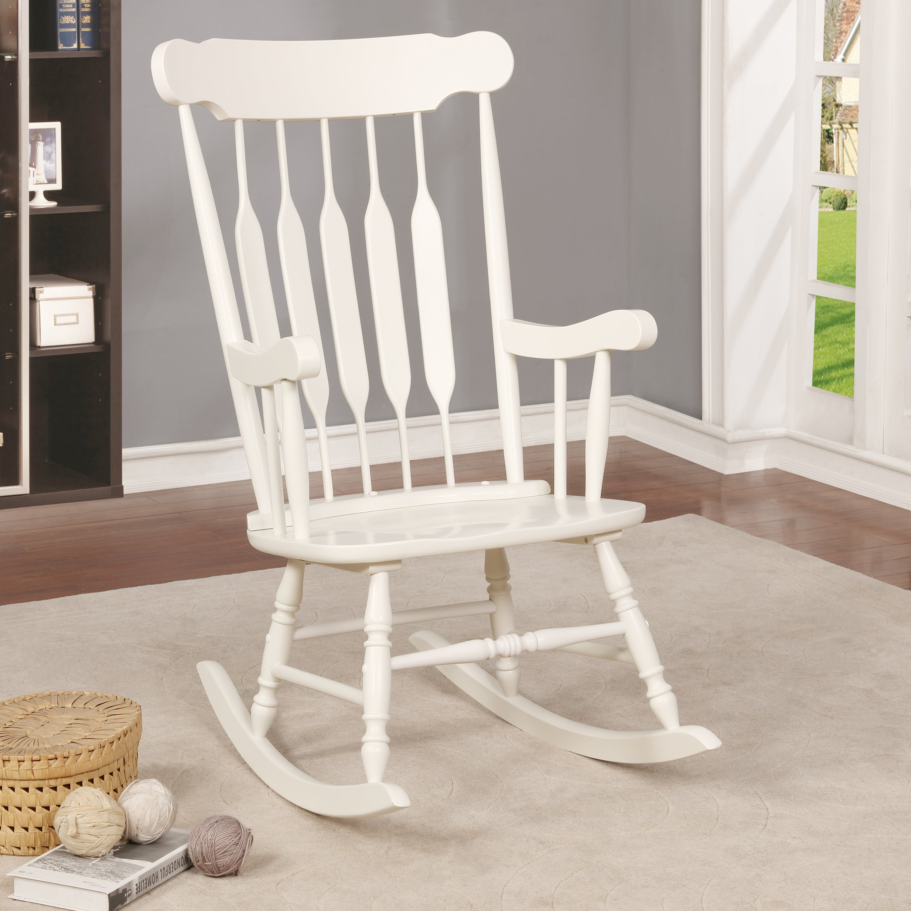 Betty Sue Country Rocking Chairfoa Intended For Ethel Country White Rocking Chairs (#3 of 20)