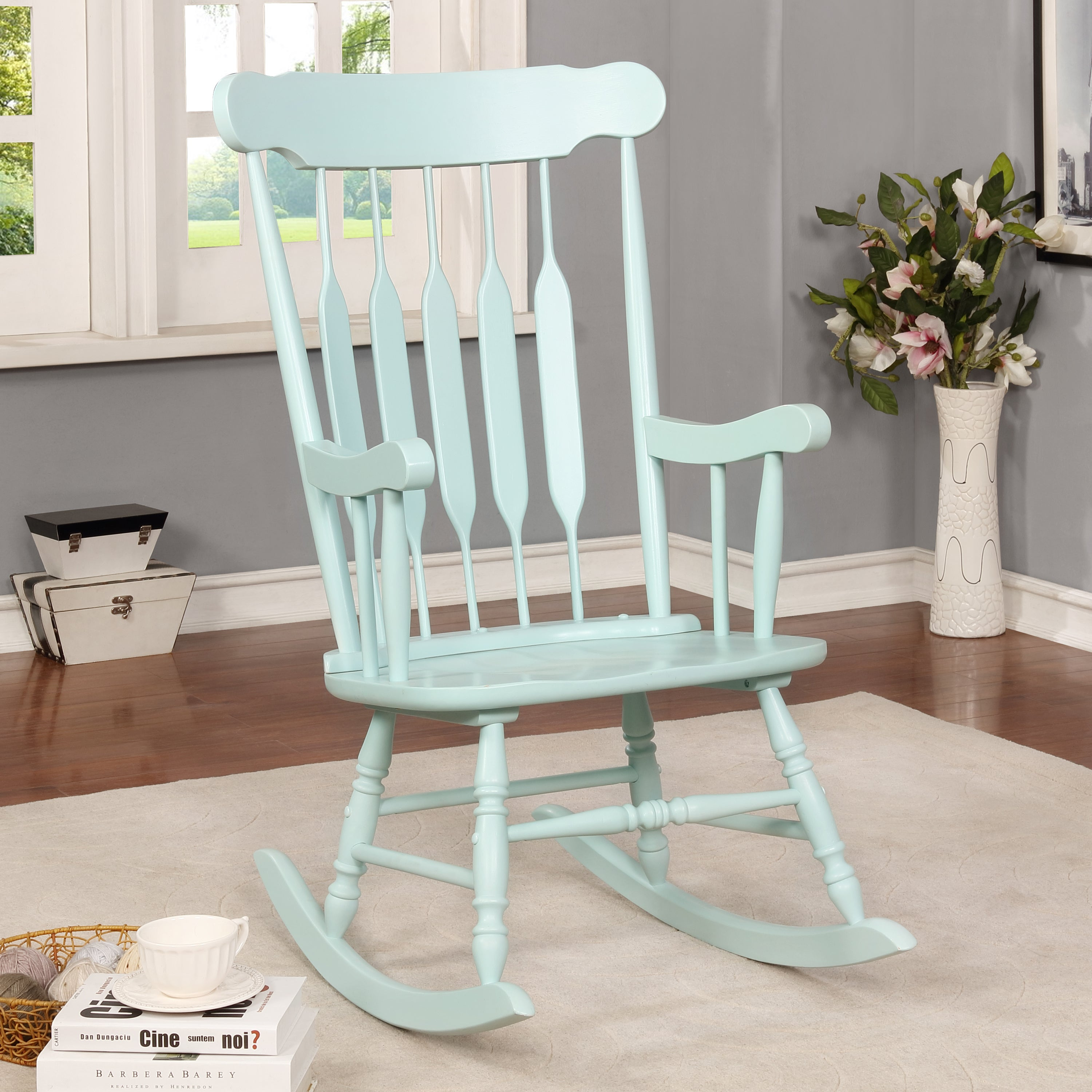 Betty Sue Country Rocking Chairfoa Throughout Ethel Country White Rocking Chairs (#4 of 20)