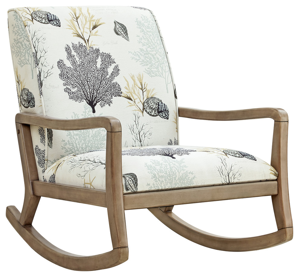 Birch Wood And Polyester Chair With Natural Finish D1103S17 Intended For Liverpool Classic Style Rocking Chairs In Antique Oak Finish (#7 of 20)