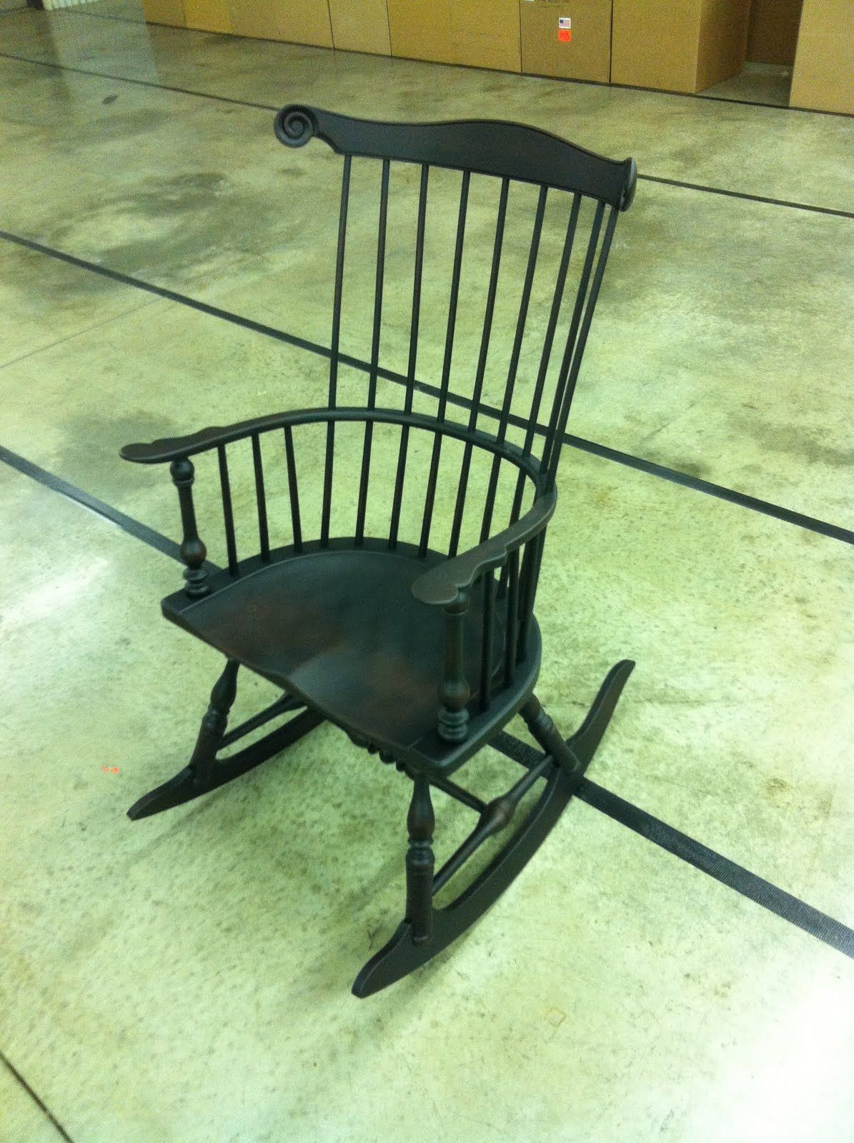 Black Windsor Rocking Chairs | Rocking Chair – Windsor Style Intended For Colonial Antique Black Rocking Chairs (#6 of 20)