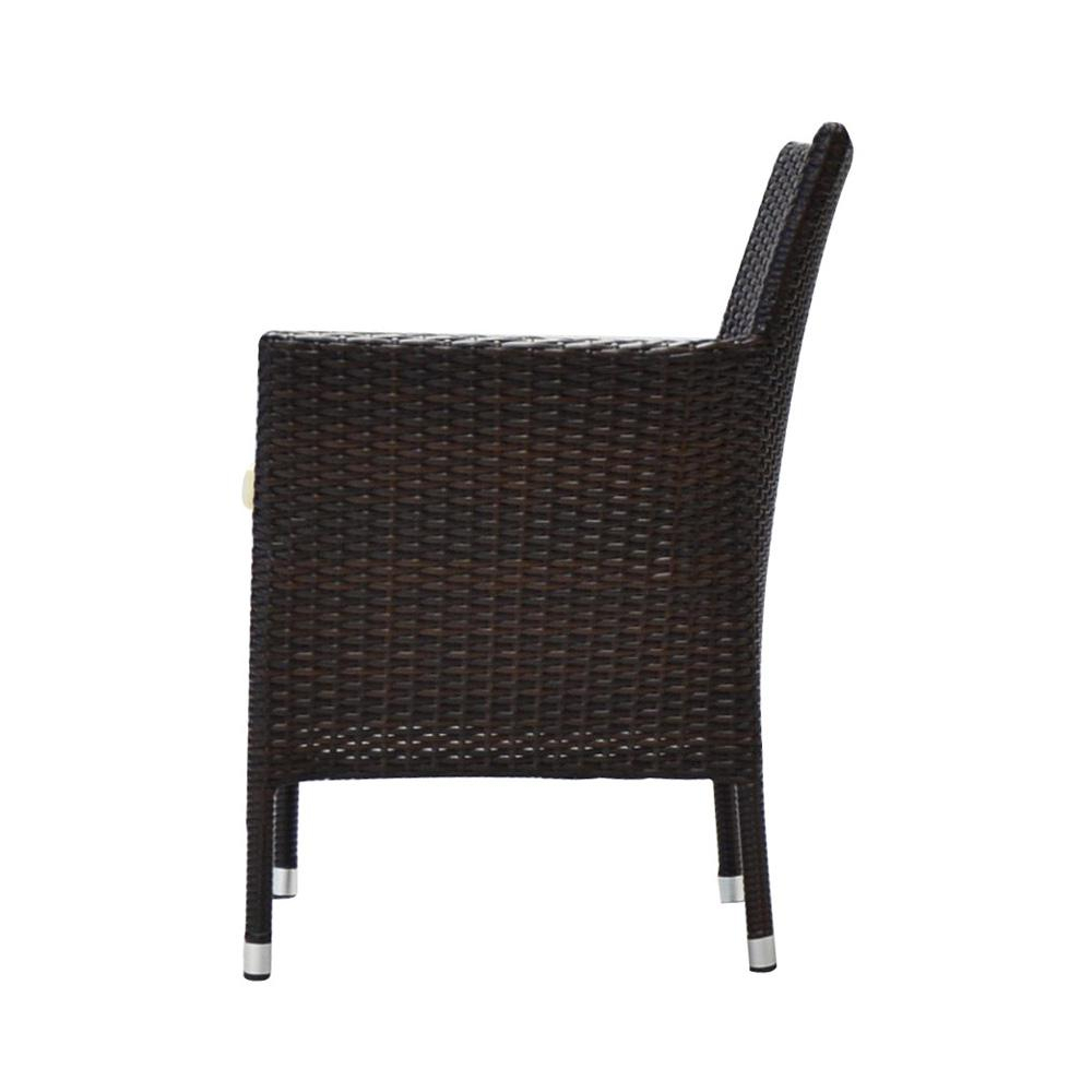 Bora Espresso Stackable Wicker Outdoor Dining Chair With With Regard To Espresso Brown Rocking Chairs (#4 of 20)