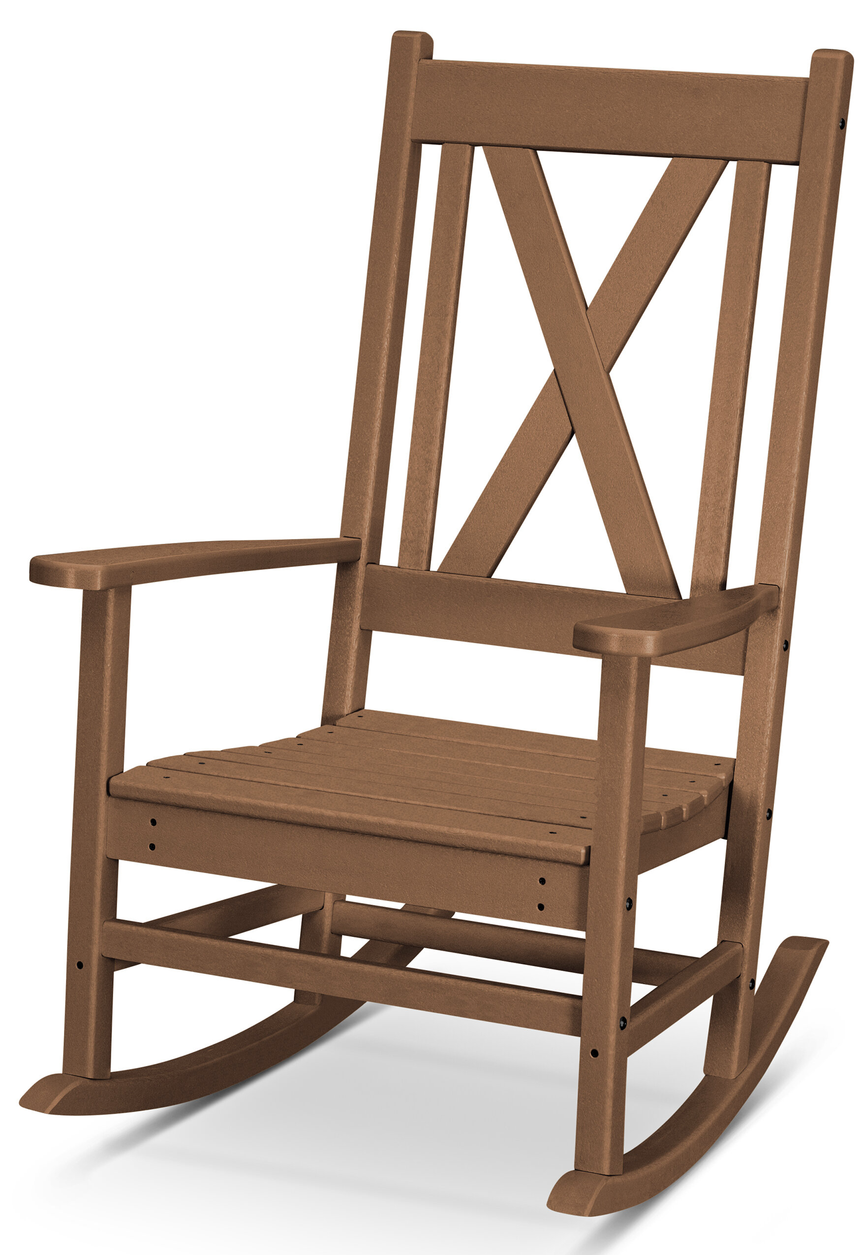 Braxton Rocking Chair For Elegant Tobacco Brown Wooden Rocking Chairs (#4 of 20)