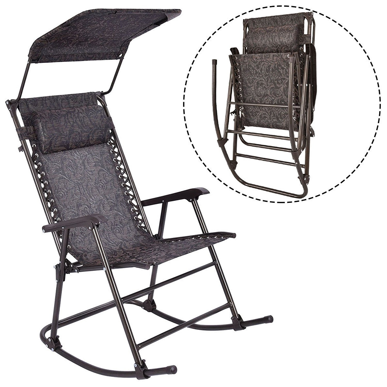 Buy Mac Sports Rnr B Folding Rocking Chair In Cheap Price On With Regard To Folding Bentwood Rocking Chairs With Extendable Footrest And Removable Cover (#3 of 20)