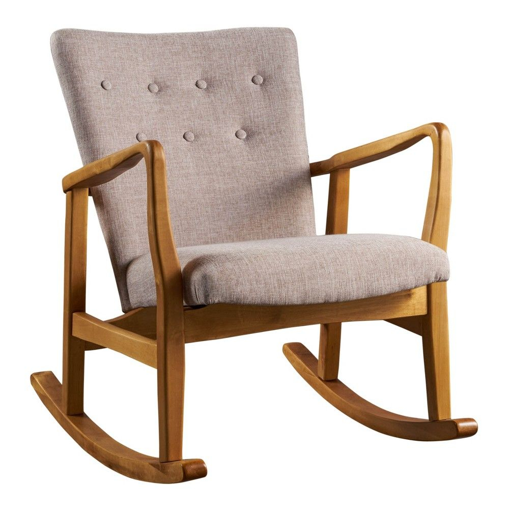 Callum Mid Century Rocker Wheat – Christopher Knight Home In For Harvey Mid Century Modern Fabric Rocking Chairs (View 14 of 20)