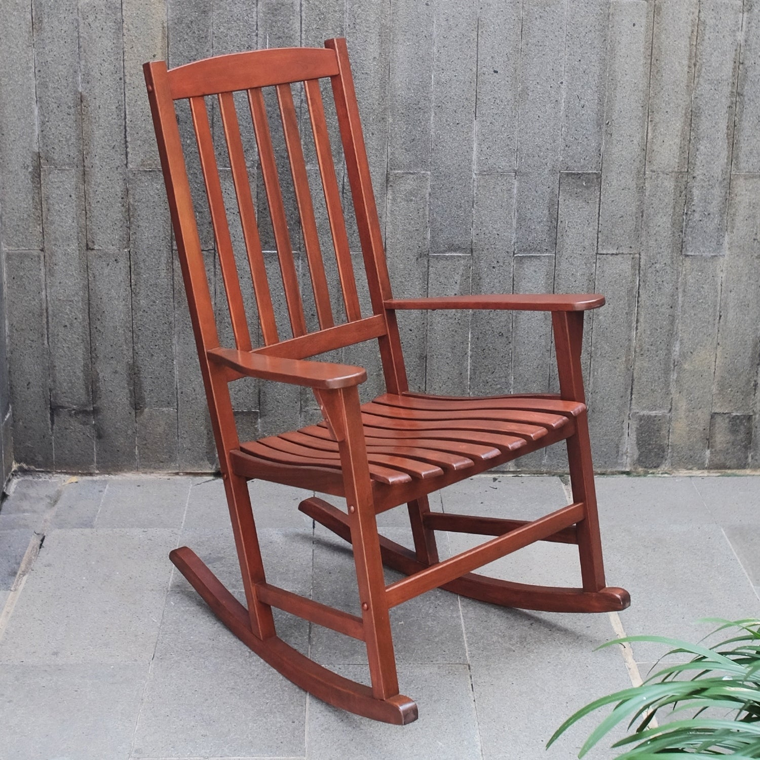 Cambridge Casual Alston Porch Rocking Chair – Natural Brown Regarding Natural Brown Wood Folding Rocking Chairs (#6 of 20)