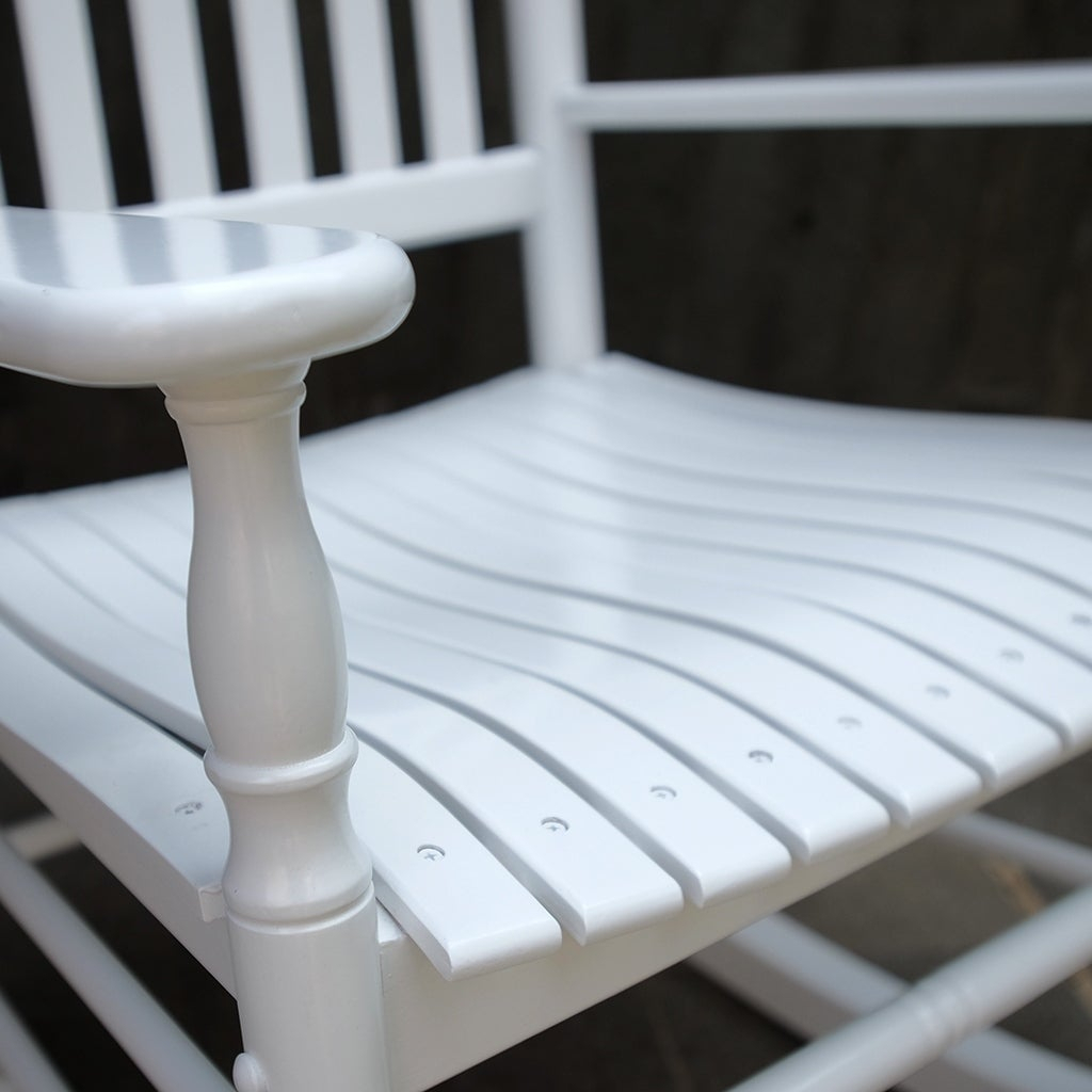 Cambridge Casual Alston Traditional Rocking Chair – White For Brady Traditional White Rocking Chairs (View 5 of 20)