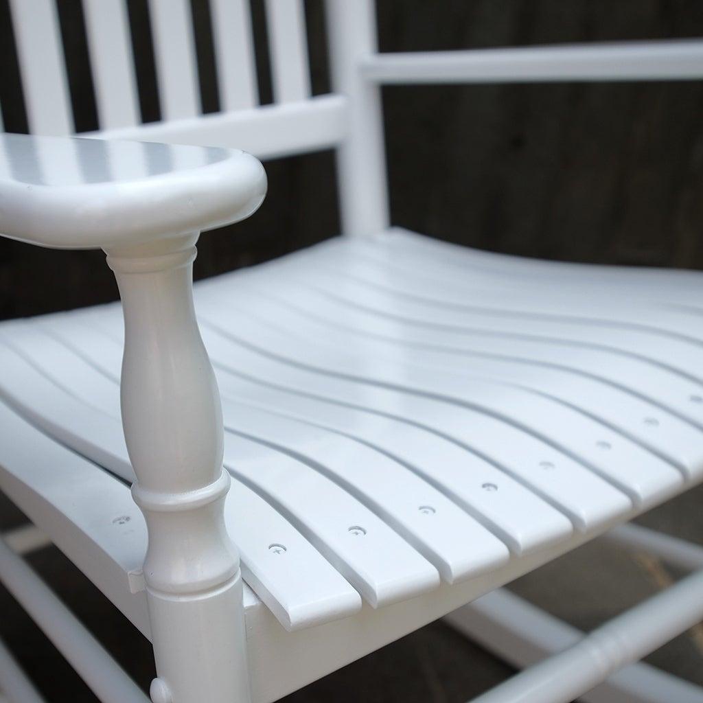 Cambridge Casual Alston Traditional Rocking Chair – White For Brady Traditional White Rocking Chairs (#5 of 20)
