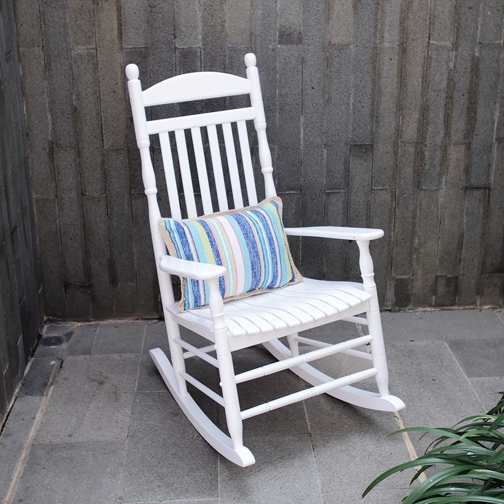 Cambridge Casual Alston Traditional Rocking Chair – White Throughout Brady Traditional White Rocking Chairs (#6 of 20)